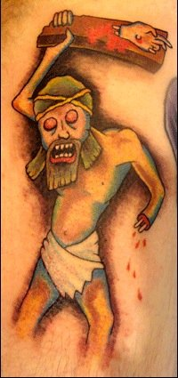 Tattoo of Jesus Zombie